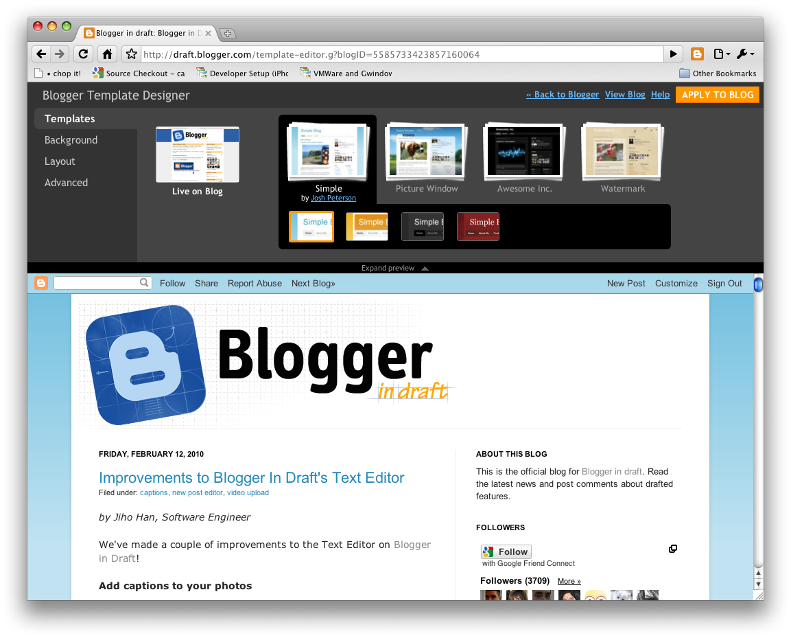 Google Launches New Blogger Template Designer