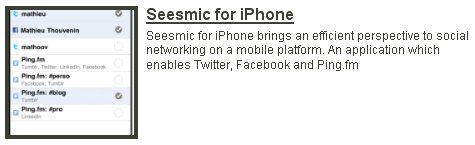 Seesmic for iPhone preview on Twitdom
