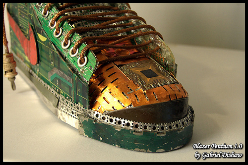Crazy Nike Sneakers Made From Recycled Circuit Boards [PICS